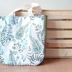 torba na ramie z motywem paproci, wiosenna, letnia, paprocie, duze