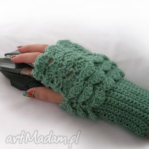 handmade rękawiczki rękawiczka, ocieplacz, mitenka do pracy przy komputerze