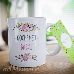 ręcznie wykonane ceramika kubek na prezent dzień babci i dziadka kochanej babci 0287