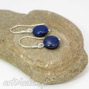 kolczyki lapis lazuli w srebrze, kolczyki, lapis, lazuli, srebro, wiszące