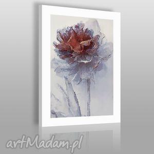 obraz na płótnie - kwiat brązowy 50x70 cm 02001 , kwiat, roślina, natura