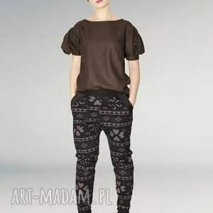 drukowane spodnie baggy z nadrukiem, druk, nadruk, krok, ściągacze, kieszonki