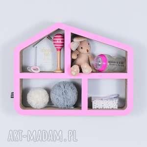 półka na książki zabawki domek ecoono różowy - półka