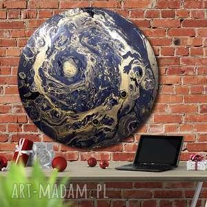 krajobraz księżycwoy 18, kosmos, planeta, ziemia, księżyc, tondo, koło