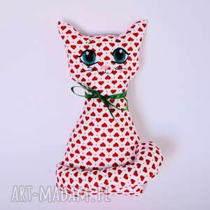 Kot Miau Julka, kot, kotek, miłość, serce, walentynki, maskotka