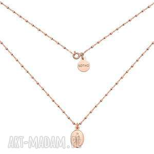 naszyjnik z różowego złota z medalikiem - łańcuszek