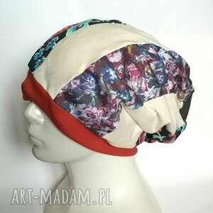 ręcznie zrobione czapki opaska dobra na joge podszewce rozmiar uniwersalny, szeroka 13cm