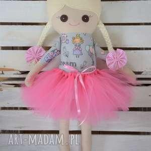 Szmacianka z personalizacją, szmaciana lalka w tutu, szmaciana, szyta, szmaciaka