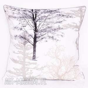 poduszka bawełnina drzewka 45x45cm wyprzedaż, drzewka