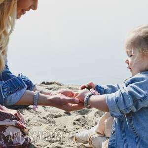 zestaw bransoletek mama-córka szary, dla mamy i córki, mama córka, bransoletki