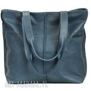 Prezent duża torba, worek ze skóry licowej 2605, torebka, prezent,