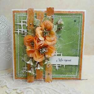moc życzeń - kartka w pudełku - imieniny, urodziny, kartka na imieniny