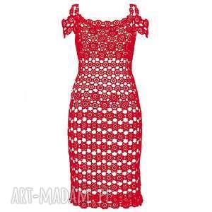 sukienki sukienka koronkowa carpe diem czerwona, sukienka, koronkowa, czerwona