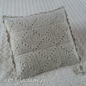 poduszka wykonana ręcznie wełna 45x45 cm 1szt, wełna, poszewki, poszewka