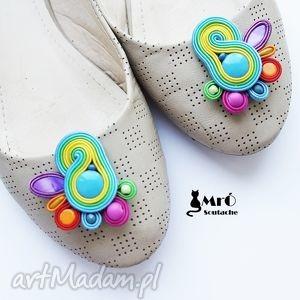 klipsy do butów - bajkowe , klipsy, sutasz, soutache, kolorowe ozdoby butów