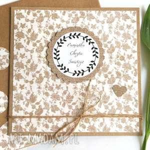 handmade kartki pamiątka chrztu świętego: kartka