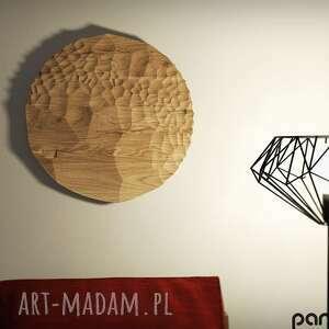 Obraz z drewna, panele ozdobne litego drewna dębowego i wzorem