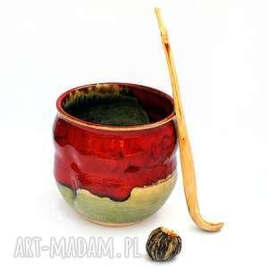 ceramika ceramiczna czarka pistace i truskawki nr51, czarka, naczynie, użytkowe