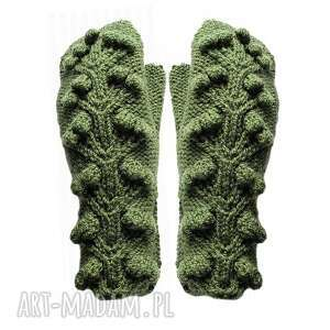 rękawiczki flora oliwka, rękawiczki, jednopalczaste, ciepłe, gwiazdkowy, prezent