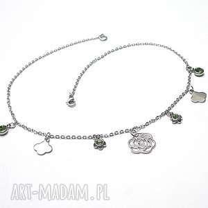 Alloys Collection -choker Line /pistacje/ , stal, szlachetna, choker, swarovski