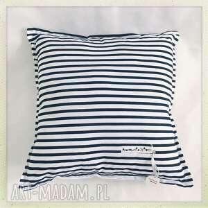 poduszka standard paski - paski, czarny, biały