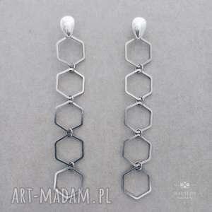 Kolczyki Milano Silver, sztyfty, srebro, nowoczesne, minimalistyczne, geometryczne,
