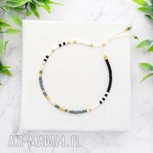 bransoletka minimal dots - sea blue, bransoletki, koralikowe, minimalistyczne