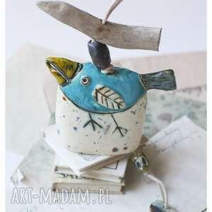 ceramika dzwonek ptak mały, ceramika, ptak, dzwonek, pod choinkę prezent