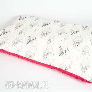 płaska poduszka minky - f łapacze snów 40x60 cm, poduszka, poszewka, minky