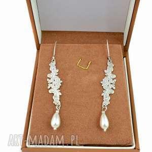 perły, srebro, 925, ślubne, stylowe, delikatne