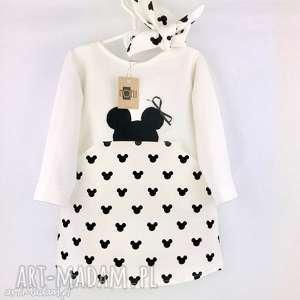 Sukienka Mouse Ecru z opaską, sukienka, ecru