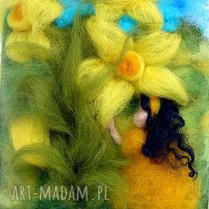 dotyk wiosny obraz z kolekcji die wunderschöne kindheit - rękodzieło