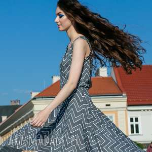 Sukienka sen jednej nocy zygzak sukienki trzyforu sukienka