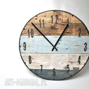 Zegar duży ze starych desek - średnica 57 cm, stare, drewno, loft, vintage