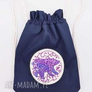 plecak worek z niedźwiedźiem - ,niedźwiedź,plecak,worek,las,leśne,góry,