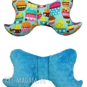 poduszka motylek, wzór muffiny - poduszka, motylek, muffiny, muffinka, muffin