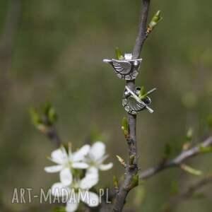 małe kolczyki sztyfty - ptaszki kowaliki, ptak, minimalistyczne, sztyfty, drobne