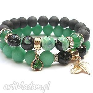 green double vol 2 23 03 15 duo, jadeit, blackstone, onyks, cyrkonie, jaspis