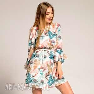 Sukienka Veronica Autumn Fern, wzorzysta-sukienka, luźna-sukienka, sukienki-do-pracy