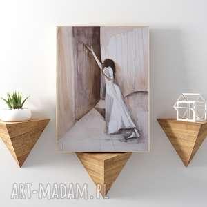 Bez skrzydeł... reprodukcja 20x30 cm., plakat, kobieta, a4, reprodukcja, obraz