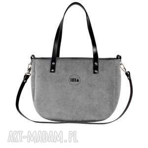 na ramię torba damska aktówka #ruby jasnoszara, ramię, elegancka, modna