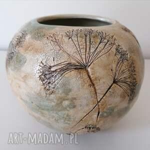 ceramika wazon kopry w kuli zaklęte, rękodzieło, z gliny