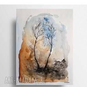 drzewa-akwarela formatu 24/32 cm, akwarela, papier, drzewa