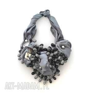 Shades of grey naszyjnik handmade naszyjniki oheve