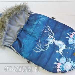 śpiworek zimowy królowa lodu, śpiworek, śpiwór, zimowy, wózek