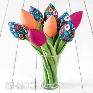 Prezent TULIPANY bawełniany kolorowy bukiet , bukiet, tulipany, prezent