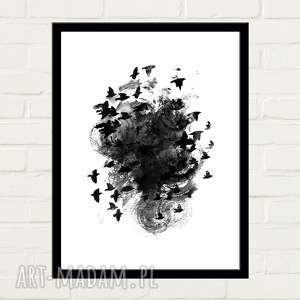 plakaty black birds plakat 50x70