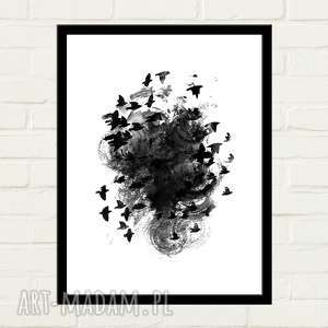 Black birds plakat 50x70 plakaty gau home