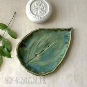 ceramiczna mydelniczka funkia, mydelniczka, polska ceramika