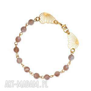 bransoletka z kamieniem słonecznym złocona c783, dla niej, kamień